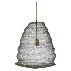 LOOP - hanglamp - metaal/jute draad - antiek messing - M - DIA 43 x H 45cm