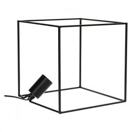 SQUARE - kubus tafellamp - metaal - zwart mat - M - 25x25x25cm