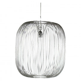 TAMA - Suspension - iron wire - pewter - L - Ø50 x 54 cm