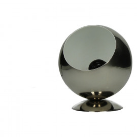 ZAROLHO - table lamp - ball - iron - shiny nickel outside/ white matt inside - DIA 15 x H 18cm