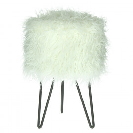 BE FUNNY - krukje - polyester/metaal - ivoor - Ø30xh39 cm