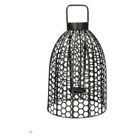 SAMURAI - lanterne - fer / verre - DIA 35 x H 60 cm - étain