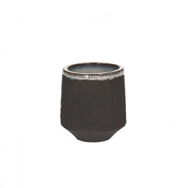 TENDO - flowerpot - stoneware - smoke - S - Ø7xh8