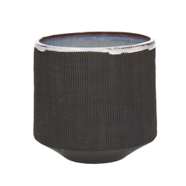 TENDO - bloempot - aardewerk - fumé - L - Ø14,5xh13,5