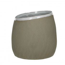 TENDO - flowerpot - stoneware - natural - L - Ø15,5xh14