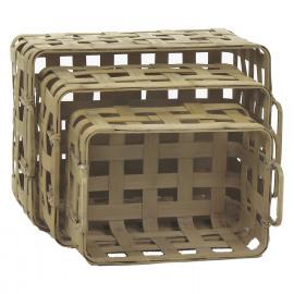 EASY - set van 3 manden - bamboe - naturel - 35x25x19 / 40,5x30,5x23 / 47x34,5x27 cm