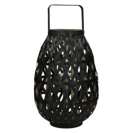 MIYAKO - lanterne - bambou - noir/ vert - L - 33x33x48cm