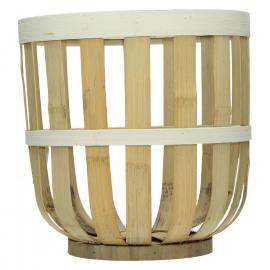 ZENDO - set van 3 manden - bamboe - naturel/ ecru - 29x29x29/ 34x34x35/ 39x39x41cm