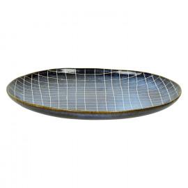 SELVEDGE - dinner plate - ceramic - dark blue - DIA 28,5cm