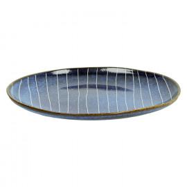 SELVEDGE - dessert plate - ceramic - dark blue - DIA 22cm