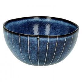 SELVEDGE - bowl - keramiek - donkerblauw - L - DIA 12,5 x H 6cm