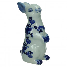 YAN-YAN - konijn - porcelein - wit/blauw - 15x10,5xh24,5