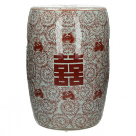 LU PAN - krukje - porcelein - wit/rood - Ø28,5xh41