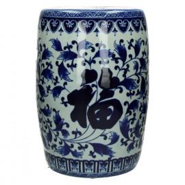 YAN-YAN - krukje - porcelein - wit/blauw - Ø28,5xh41
