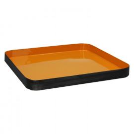 CECILE - dienblad - metaal/email - oranje - L - 40x40xh3,5cm