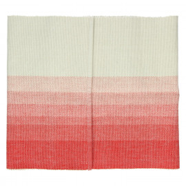 BARCAGGIO - table runner - cotton - coral red/natural - 40x140 cm