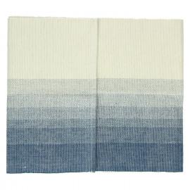 BARCAGGIO - tafelloper - katoen - indigo/naturel - 40x140 cm