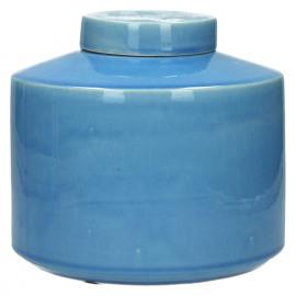 MATCHA - pot met deksel - keramiek - inktblauw - M - Ø21xh19,5 cm