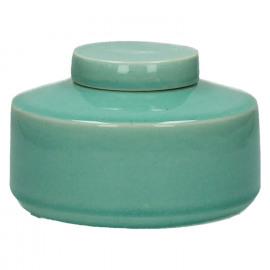 MATCHA - pot met deksel - keramiek - celadon - S - Ø15xh10