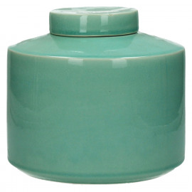 MATCHA - pot avec couvercle - céramique - celadon - M - Ø21xh19,5 cm
