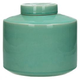 MATCHA - pot met deksel - keramiek - celadon - M - Ø21xh19,5 cm
