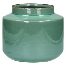 MERENGUE - vaas - keramiek - celadon - S - Ø21xh17,5 cm