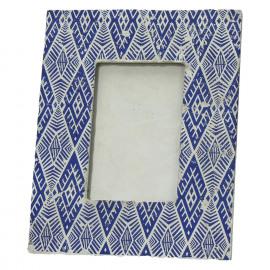 CHEYENNE - fotokader - keramiek - donkerblauw - 20x25x1,9 cm
