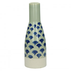 DOMBURG - vaas - keramiek - blauw - S - Ø9,5xh27 cm