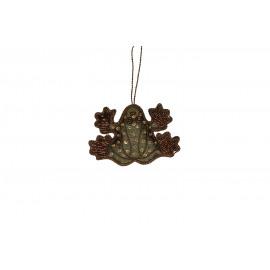 CRAZY - kikker hanger - goud - 11xh7 cm