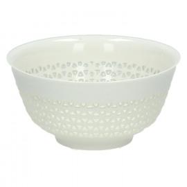 STRUCTURE - bowl - porcelain -white - dia 12,5x6 cm