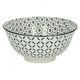 KASHGAR - bol M  - porcelaine - noir - D15x7