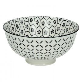 KASHGAR - bol S  - porcelaine - noir- D12x6
