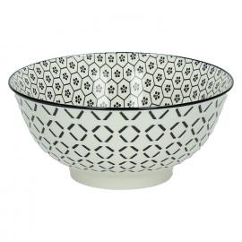 KASHGAR - bol L  - porcelaine - noir - D18x8
