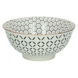 KASHGAR - bol L  - porcelaine - lavande - D18x8