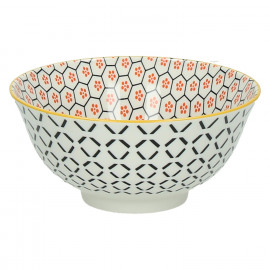 KASHGAR - bowl M  - porcelain - orange - D15x7