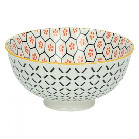 KASHGAR - bowl S  - porcelain - orange - D12x6