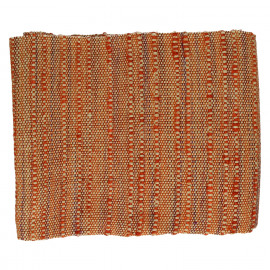 B SUITE  - plaid - 100% coton - tons d'orange - 125x150cm