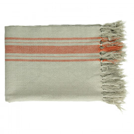 FARNIENTE - throw - 100% cotton - orange - 130x170 cm