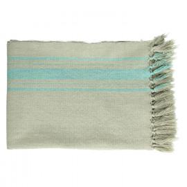 FARNIENTE - plaid - 100% cotton - turquoise- 130x170 cm
