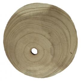 PURE - paulownia hout - DIA 15 x H 3 cm
