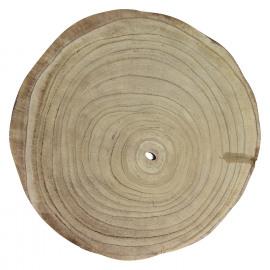 PURE - plate - paulownia hout - DIA 35 x H 3,5 cm
