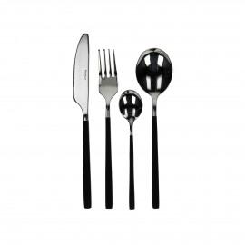 SERENITY - Bestek - Zwart/Zilver - inox 18/0 - Set 24