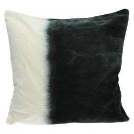 OMBRA - deco kussen - velours 100% katoen - donkergrijs - 45x45 cm