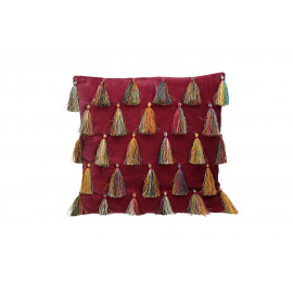 CIRQUE - coussin déco - velours 100% coton - rose - 45x45 cm
