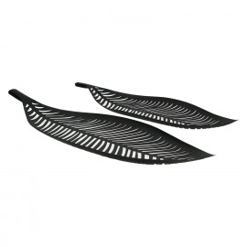ORTICO - set/2 deco trays - metal - black - S:50x17xh3,5 cm  L:60x20,5xh4 cm