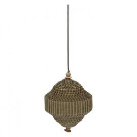 BIDULE - x-mas hanger - carton - brown - 6,5x6,5 cm