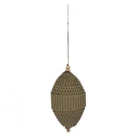 BIDULE - x-mas hanger - carton - brown - 8x4,5 cm