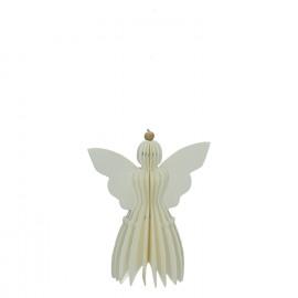 ESQUISSE - kersthanger engel - papier - wit - h.11 cm