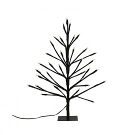 TRAE - 33 leds tree - metal - black - S - h40 cm - 3xAA not included