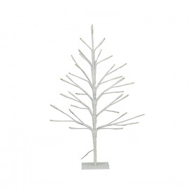 TRAE - 33 leds tree - metal - white - S - h40 cm - 3xAA not included
